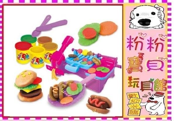 *粉粉寶貝玩具*彩泥燒烤DIY玩具~麵條機~可做漢堡~黏土DIY玩具~安全無毒