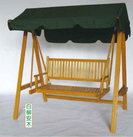 南洋風休閒傢俱戶外鞦韆系列-木條鞦韆戶外休閒搖椅雙人小秋千搖籃88110