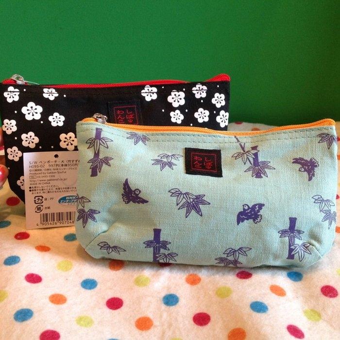 發現好貨獨家商品日本原裝進口和風柴犬竹子櫻花筆袋化妝包收納包柴犬公仔吊飾