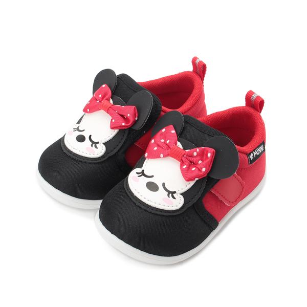 DISNEY 米妮小睡造型寶寶鞋 黑紅 中小童鞋 鞋全家福