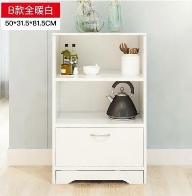 餐邊櫃多功能櫃子簡約現代櫥櫃微波爐櫃儲物櫃碗櫃茶水櫃 【組合櫃B-暖白】