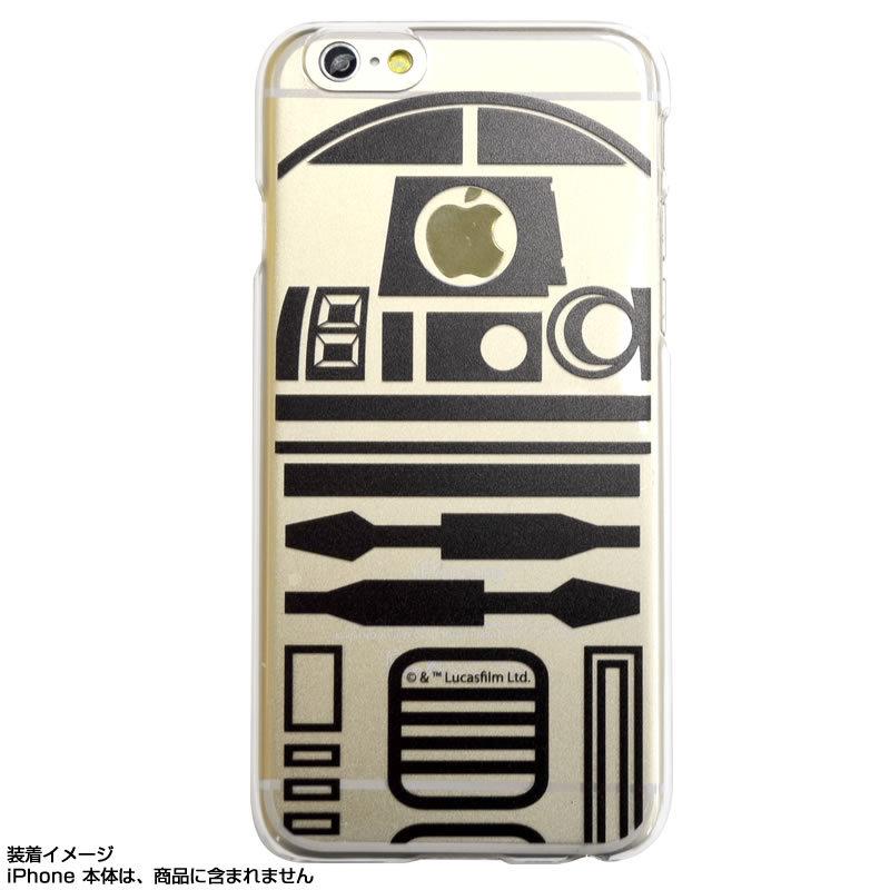 尼德斯Nydus*日本正版迪士尼星際大戰R2D2透明款手機殼4.7吋iPhone 6