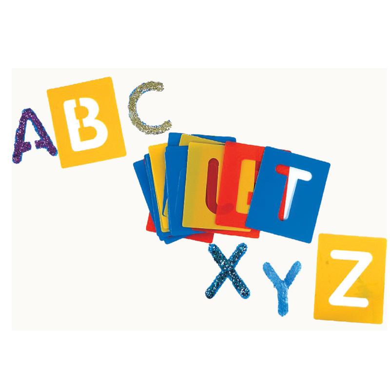 小型字母範本-大寫英文字母 兒童幼兒教具教學道具彩繪著色畫圖用具綜合活動藝術人文