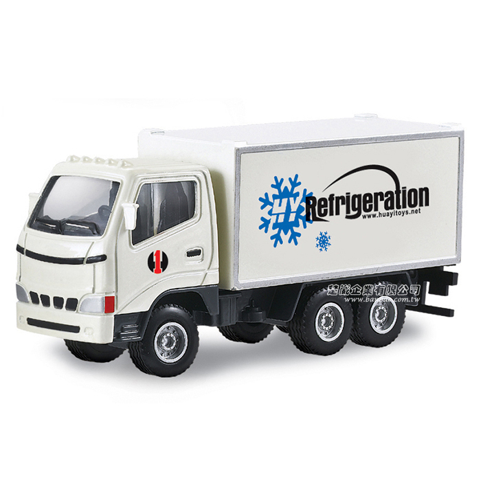 HY TRUCK華一6012-11A冷藏車工程合金車模型車冷凍車保鮮車1:60楚崴玩具