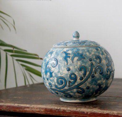 陶瓷彩繪景德鎮陶瓷茶葉罐