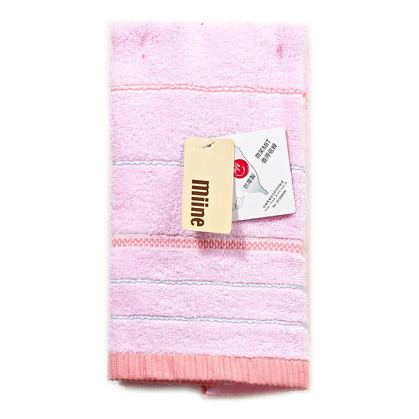 Miine色緞毛巾(藍粉)【屈臣氏】