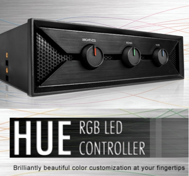 NZXT HUE LED 燈光控制器~可透過旋鈕變換LED燈顏色