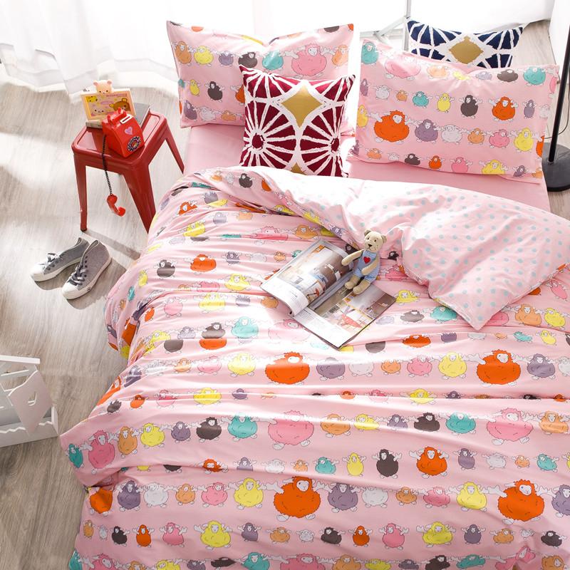 雙人床包組小綿羊標準雙人北歐簡約風純棉床包雙人枕套被套床包ikea床單佛你企業