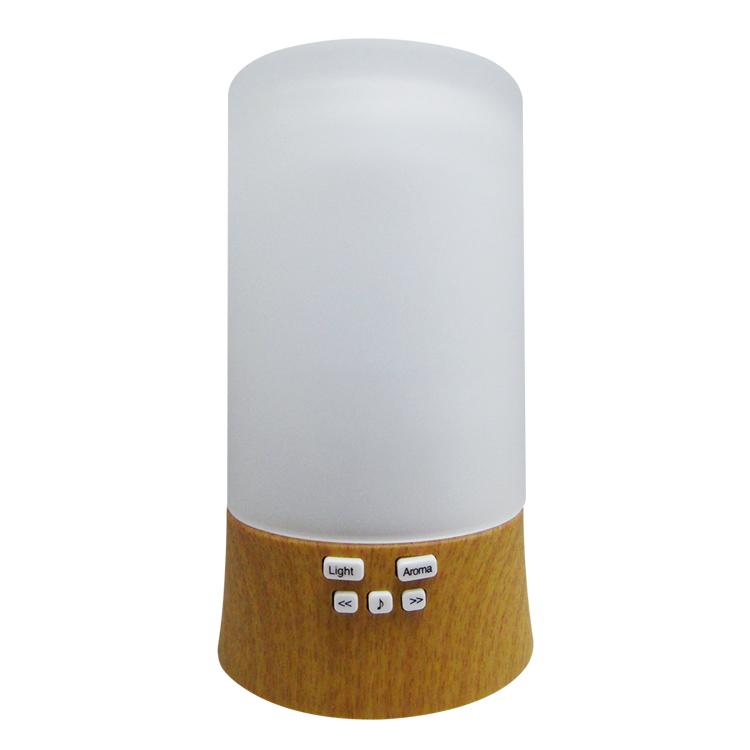 贈12瓶精油水氧機加濕器香薰機木紋-自選音樂版香熏機香氛機HU-16C