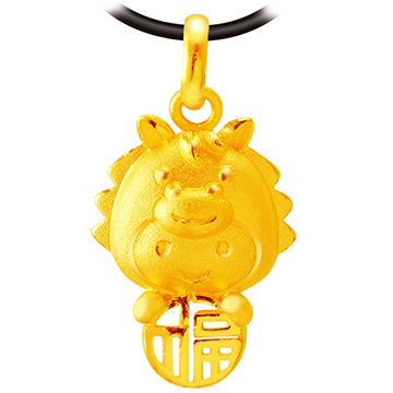 甜蜜約定金飾-福氣十二生肖馬-黃金墜子 生肖金飾 招財 開運