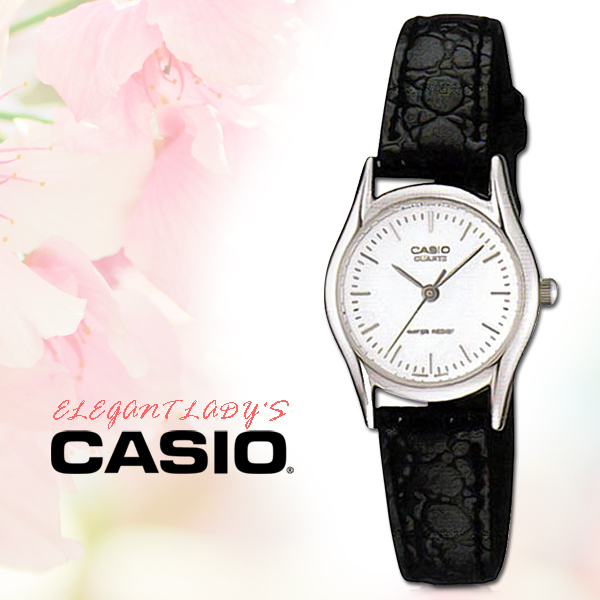 CASIO手錶專賣店國隆CASIO手錶LTP-1094E-7A女錶指針錶皮革錶帶白防水全新