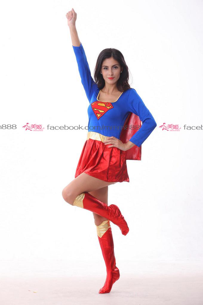衣美姬角色扮演女超人COSPLAY女飛俠舞台表演派對遊戲服裝