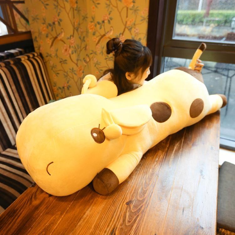 毛絨公仔-可愛長頸鹿公仔毛絨玩具抱枕玩偶睡覺抱枕布娃娃女生生日禮物【大咖玩家】TW