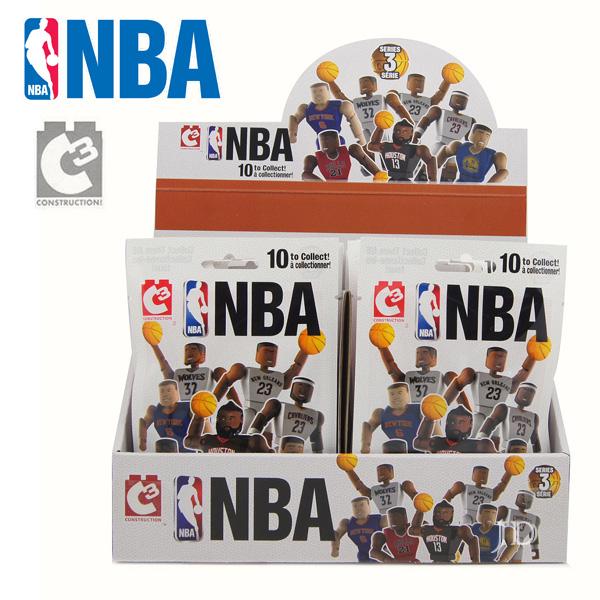 C3 TOYS超可動積木人偶NBA系列球員驚喜包21500款式隨機