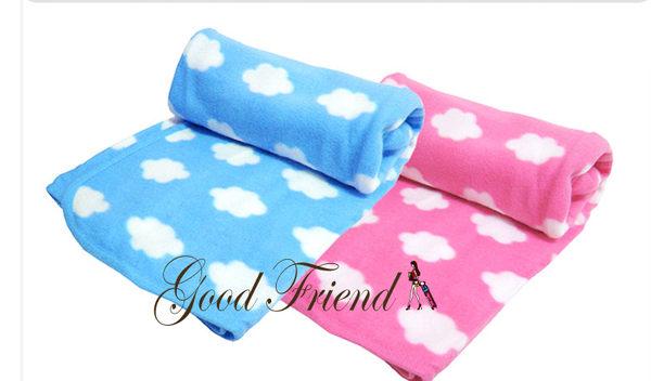 可愛雲朵居家懶人毯/嬰幼兒包被/包巾/抱毯/毛毯(藍色/粉色)