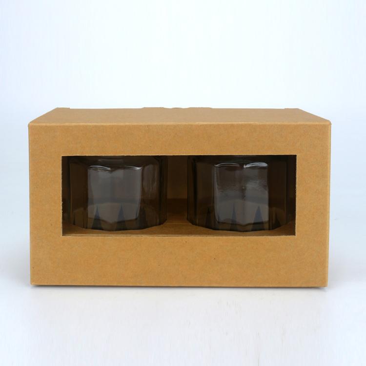 2入泡菜盒 素面無印刷 開窗盒 (20入裝)