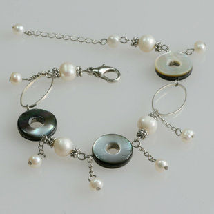 手鏈女流蘇時尚貝殼珍珠水晶首飾飾品