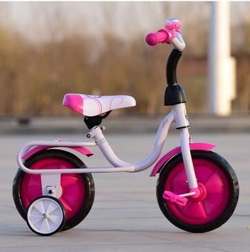 兒童三輪車自行車腳踏車2 3 4 5小孩四輪自行車平衡車白管-炫彩腳丫折扣店