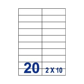 Unistar 裕德3合1電腦標籤紙 (60)UH30105 20格 (20張/包)