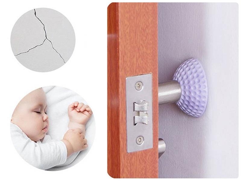 門把防撞墊門後牆面防撞靜音墊安全防撞貼牆壁橡膠減震墊防門鎖碰撞噪音防家具碰傷