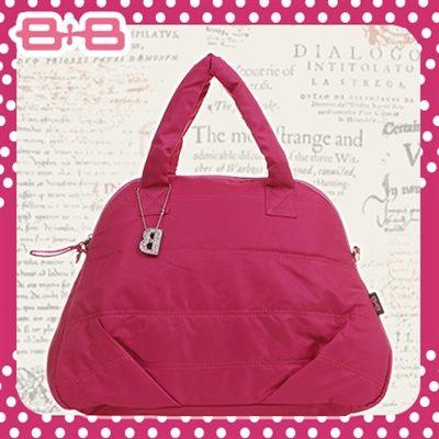 時尚B媽媽空氣包-紅尿布墊保溫袋大空間肩揹側背媽咪包HAPPY B B E-B-95158D-F