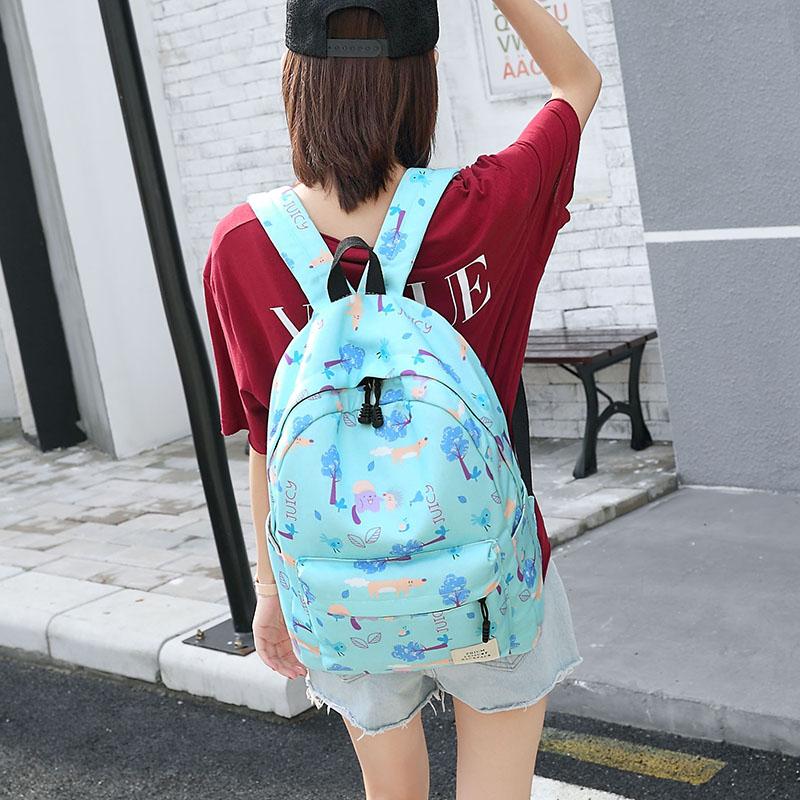 女士雙肩包 女生書包 女款旅行包 女士後背包 2017年新款韓版森系初中高中小學生背包學院風