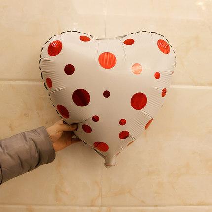 結婚生日派對婚房布置鋁箔心形氣球浪漫鋁膜氣球愛心裝飾布置用品(18吋)─預購CH755