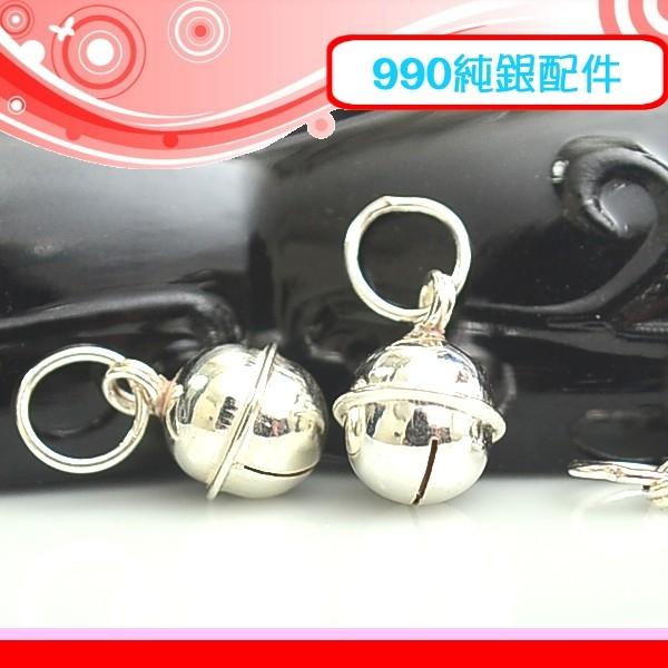 銀鏡DIY S990純銀DIY材料配件鈴鈴鈴7mm亮面曲線鈴鐺~適合手作串珠蠶絲蠟線非合金