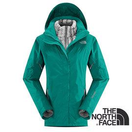 The North Face女Gore-tex羽絨兩件式外套海島綠CUF1EY3