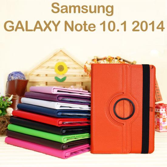 旋轉斜立三星SAMSUNG Galaxy Note 10.1 2014 P6000 P6050平板荔枝紋皮套書本側掀保護套~清倉
