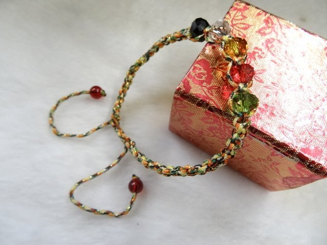 Ruby工作坊NO.34一條奧地利五行水晶珠七色線手鍊