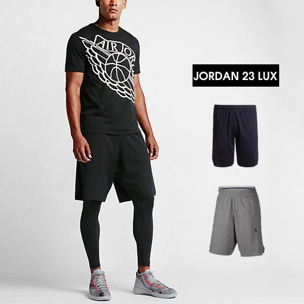 特價NIKE JORDAN 23 LUX短褲812587-032黑色812587-063灰色AIR JORDAN JUMPMAN
