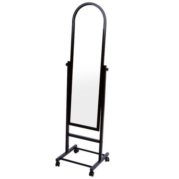 集樂雅KC093時尚黑鐵管小穿衣鏡立鏡全身鏡