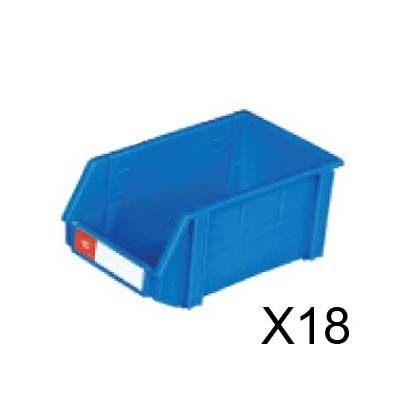 nicegoods耐衝擊整理盒18個箱寬20.2cm深34.2cm高15.3cm塑膠盒整理盒收納盒