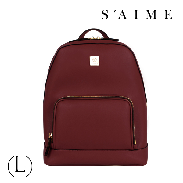S aime東京企劃【SBG28-A012L】Gill吉兒 方塊中性多功能後背包(L) 肩背 手提 多用 酒紅