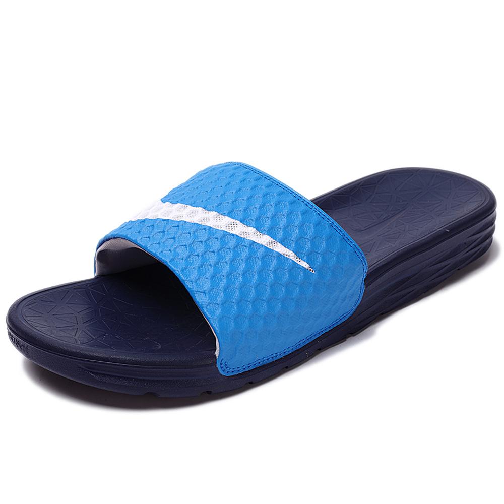 Nike Benassi Solarsoft拖鞋男鞋女鞋軟底舒適藍白勾運動世界705474-402