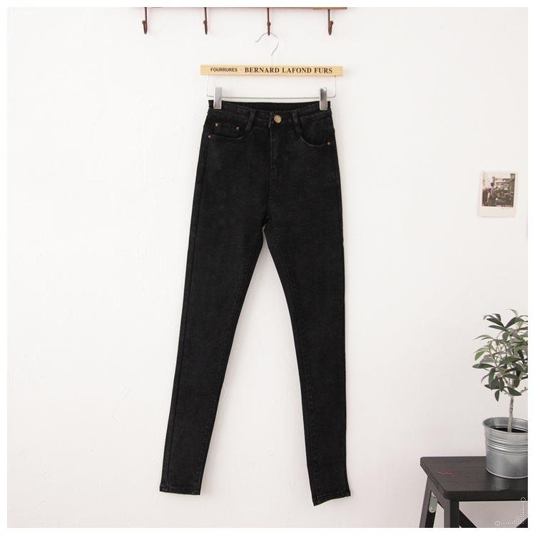 梅梅露*【69010145】牛仔褲。極緻修修腿彈性小直筒雪花褲