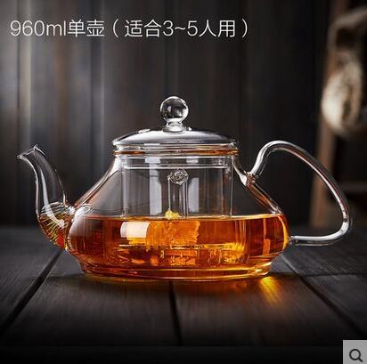 玻璃茶壺耐高溫過濾花茶壺加厚花茶壺耐熱水壺茶壺煮茶壺