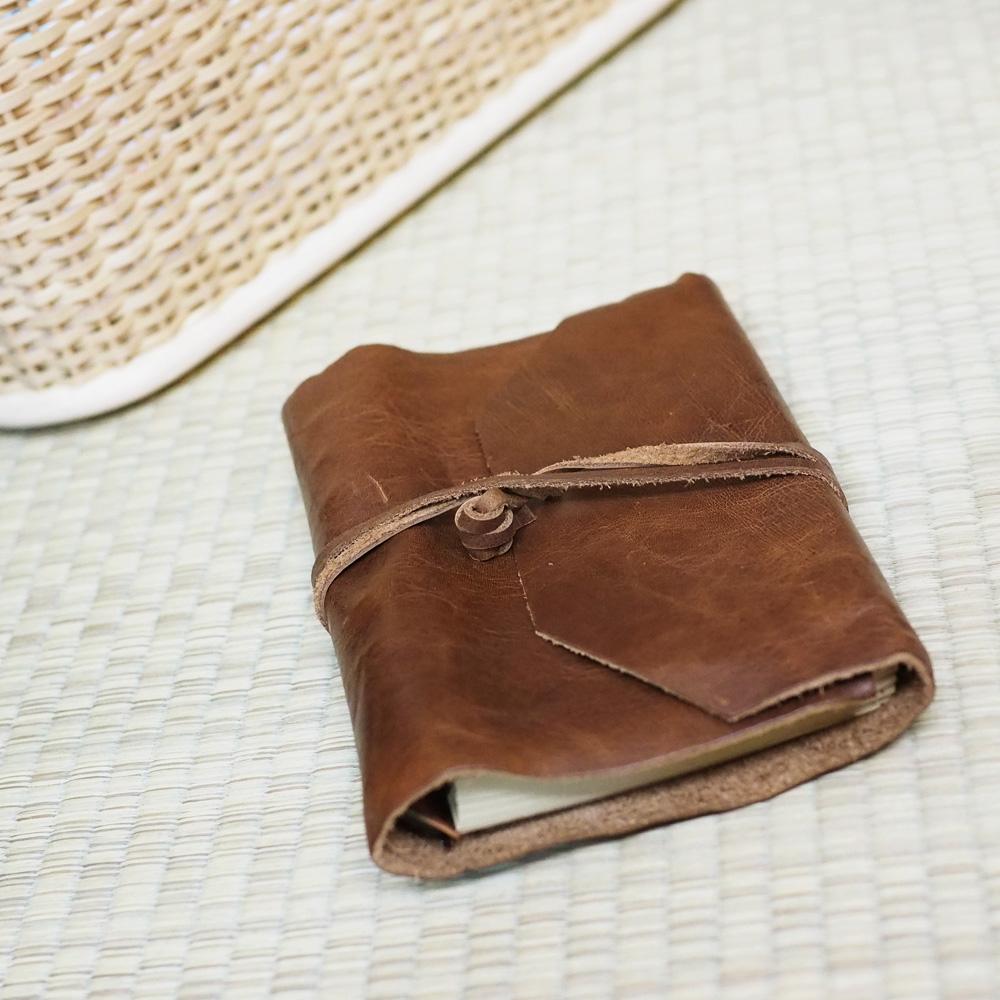 Solomon原創設計皮件真皮皮製筆記手札牛皮簡約手工皮革