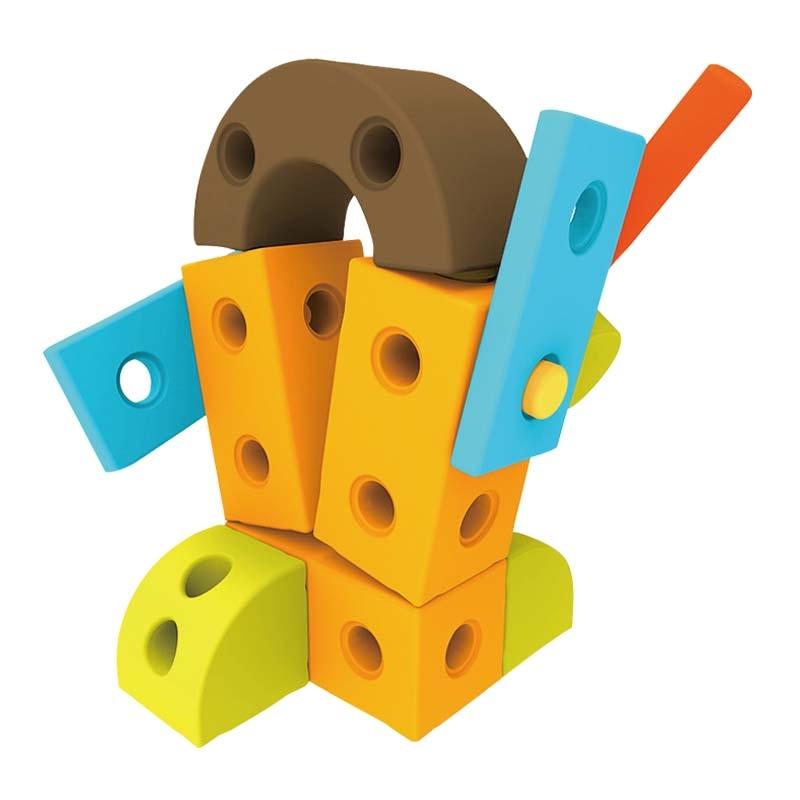 格列佛巨人積木-機器人兒童幼兒教具玩具道具遊戲社會扮演想像創造建構造型組裝玩偶積木模型