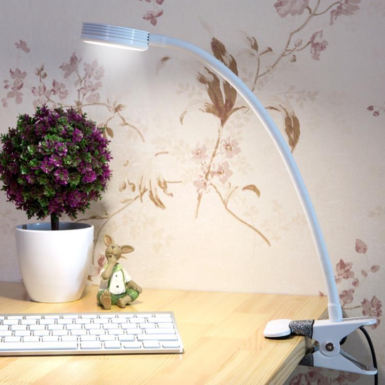 LED夾子臺燈夾燈書桌充電床頭燈元氣少女