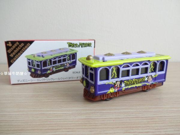 草莓牛奶屋日本進口東京迪士尼海洋TOMICA小汽車驚魂古塔遊園車
