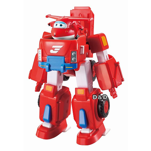 SUPER WINGS超級飛俠杰特合體變形消防車JOYBUS玩具百貨