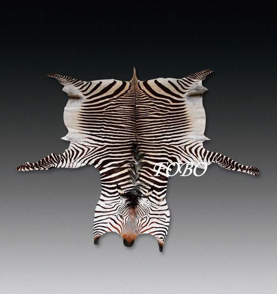地毯斑馬皮地毯Zebra carpet皮革地毯合法進口有CITES