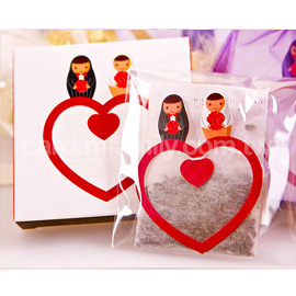 婚禮小物-永結同心茶包組-迎賓禮/送客禮/伴手禮/贈品/二次進場 幸福朵朵