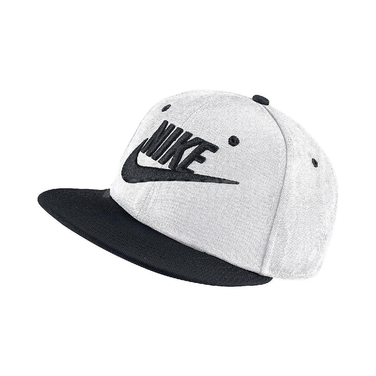 Nike 帽子 True Cap Futura 基本款 白 黑 男女款 可調式 棒球帽【PUMP306】 614590-101