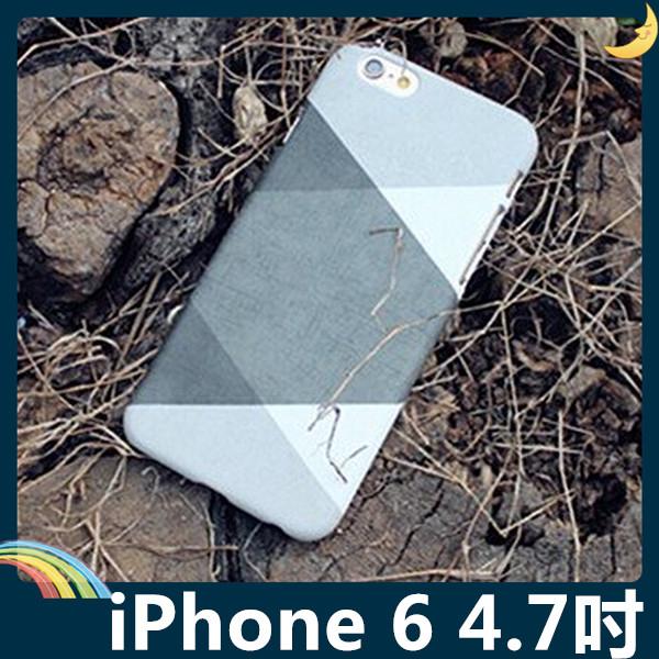 iPhone 6 6s 4.7吋黑白灰撞色保護套軟PC硬殼黑白格調時尚簡約矽膠套手機套手機殼背殼外殼