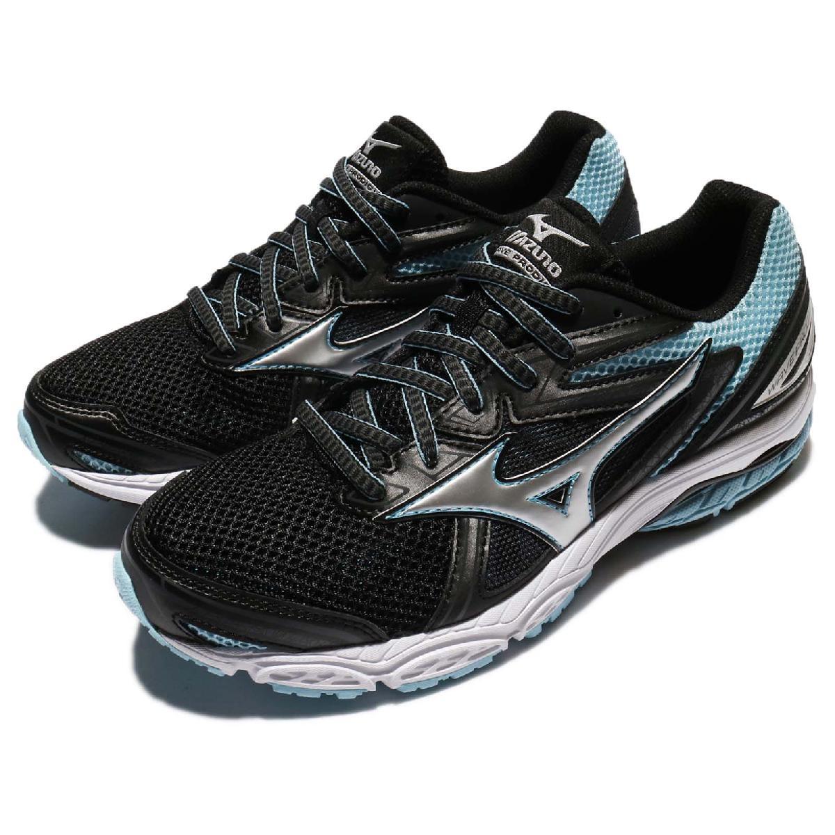 美津濃 Mizuno Wave Prodigy 黑 藍 白底 慢跑鞋 運動鞋 緩震舒適 女鞋【PUMP306】 J1GD171003