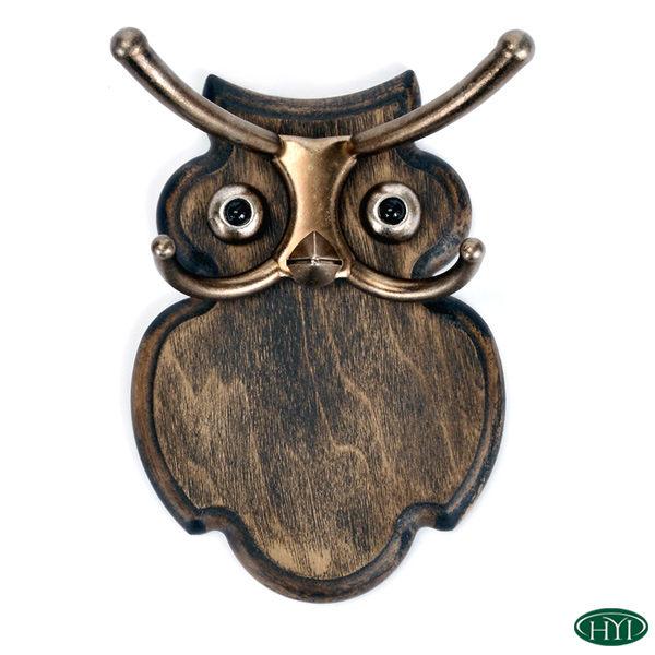 【HYI家居生活館】創意貓頭鷹造型壁掛S(咖啡色漂流木)《MIT手工製作 全館免運費》