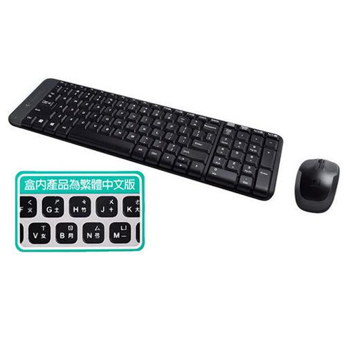 羅技無線鍵盤滑鼠組合MK220愛買